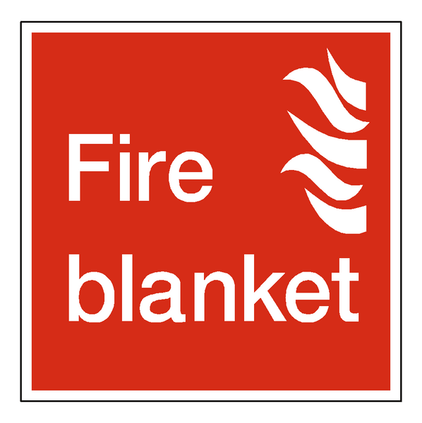 Fire Blanket Square Sign - Safety-Label.co.uk