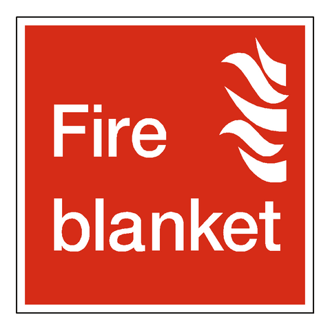 Fire Blanket Square Sticker - Safety-Label.co.uk
