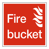 Fire Bucket Sign | Safety-Label.co.uk