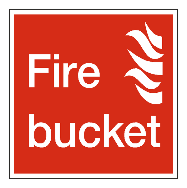 Fire Bucket Sign - Safety-Label.co.uk