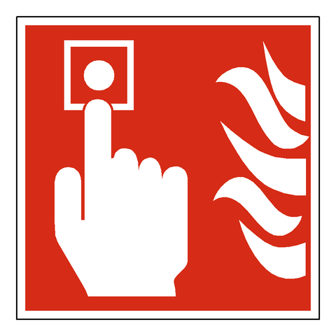 Fire Button Sign - Safety-Label.co.uk