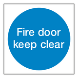 Fire Door Keep Clear Sticker | Safety-Label.co.uk