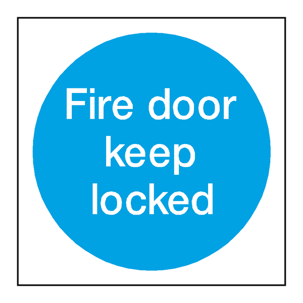 Fire Door Keep Locked Sticker Safety Label Co Uk