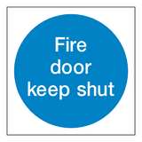 Fire Door Keep Shut Sticker | Safety-Label.co.uk