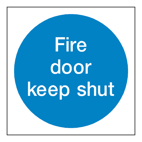 Fire Door Keep Shut Sticker - Safety-Label.co.uk
