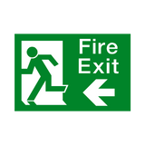 Fire Exit Arrow Left Sign | Safety-Label.co.uk
