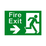 Fire Exit Arrow Right Sign | Safety-Label.co.uk