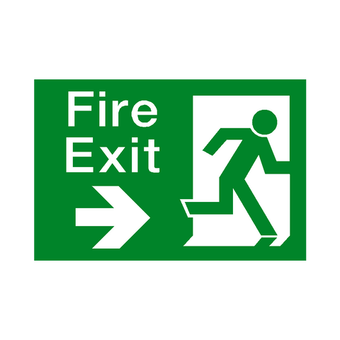 Fire Exit Arrow Right Sign - Safety-Label.co.uk