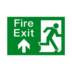 Fire Exit Arrow Up Sign - Safety-Label.co.uk