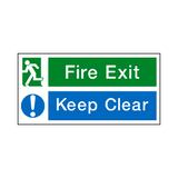 Fire Exit Keep Clear Sign | Safety-Label.co.uk