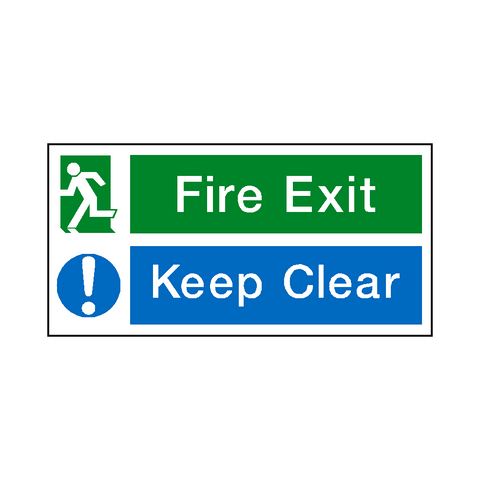Fire Exit Keep Clear Sign - Safety-Label.co.uk
