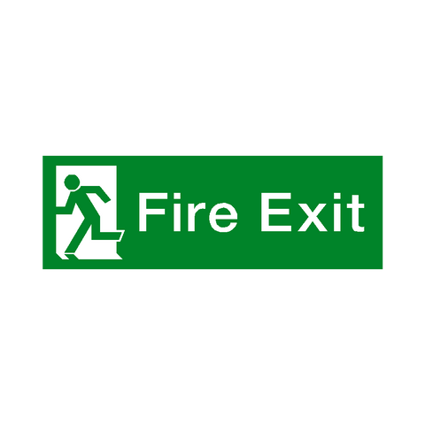 Fire Exit Left HSE Sign - Safety-Label.co.uk