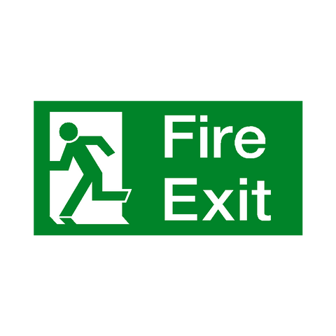 Fire Exit Sign Left - Safety-Label.co.uk