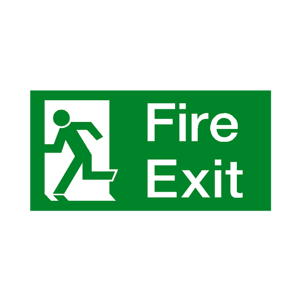 Fire Exit Left Sticker - Safety-Label.co.uk