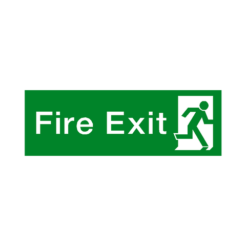 Fire Exit Right HSE Sign - Safety-Label.co.uk