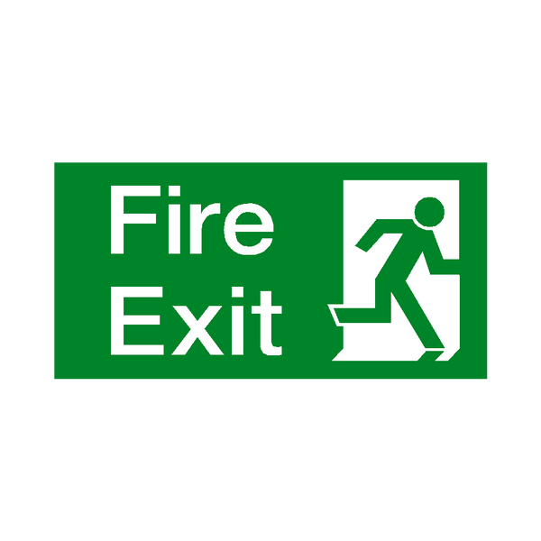 Fire Exit Right Sticker - Safety-Label.co.uk