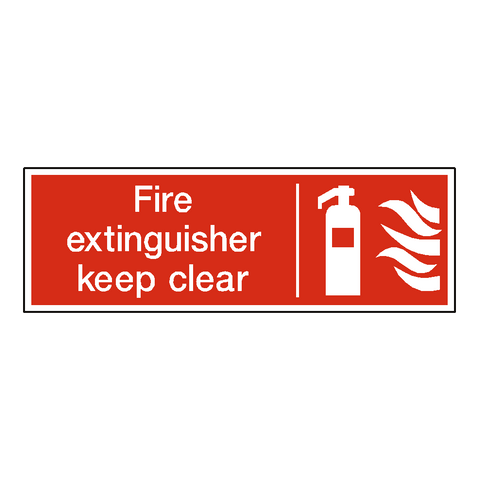 Extinguisher Keep Clear Sign - Safety-Label.co.uk