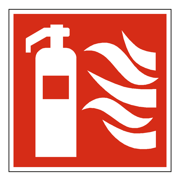 Standard Fire Symbol Label - Safety-Label.co.uk