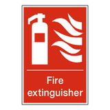 Fire Extinguisher Standard Sign | Safety-Label.co.uk