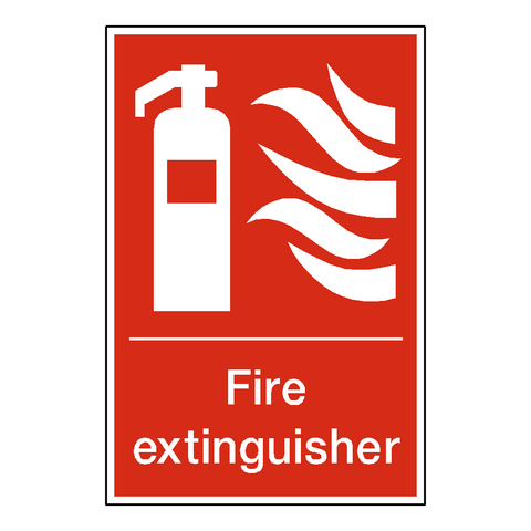 Fire Extinguisher Standard Label - Safety-Label.co.uk