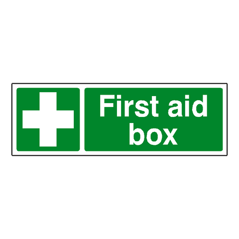 First Aid Box Label - Safety-Label.co.uk