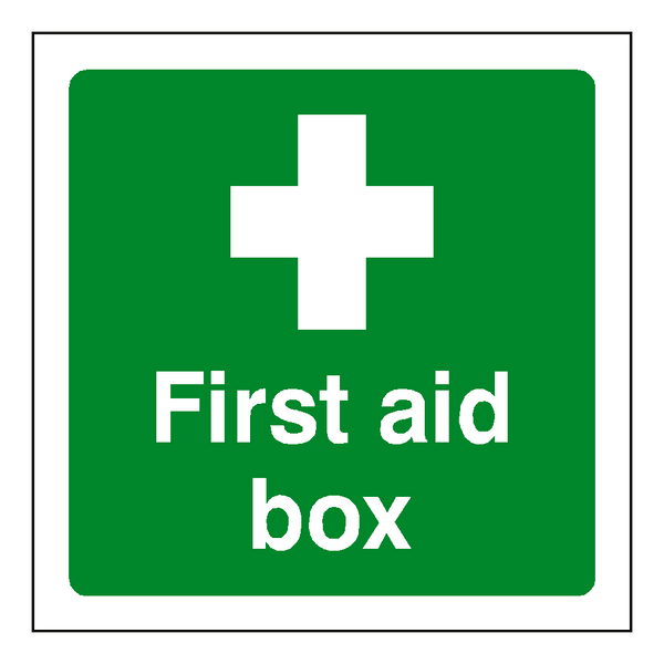 First Aid Box Sticker | Safety-Label.co.uk