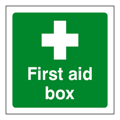 First Aid Box Sign - Safety-Label.co.uk