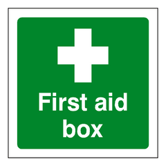 First Aid Box Sticker - Safety-Label.co.uk