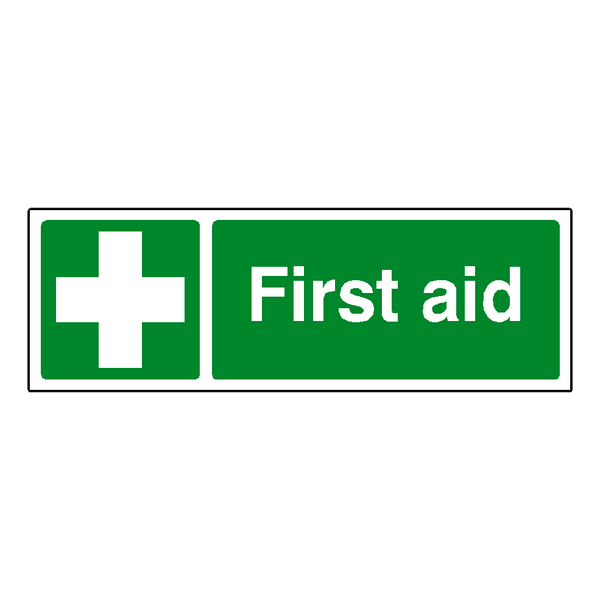 First Aid Label - Safety-Label.co.uk
