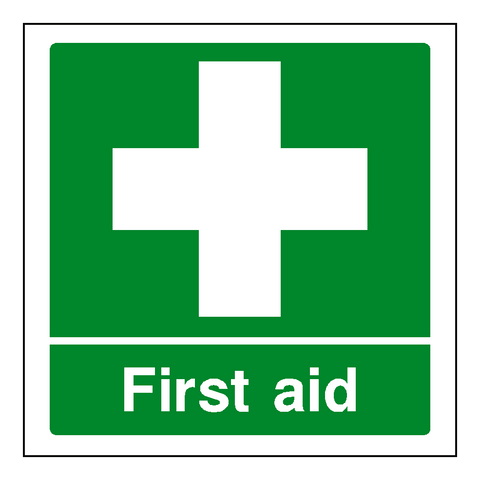 First Aid Sticker - Safety-Label.co.uk