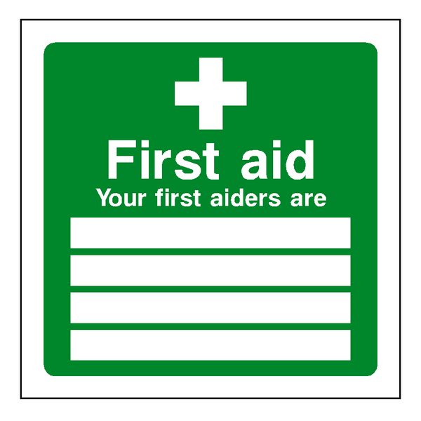First Aid Personnel Sticker | Safety-Label.co.uk