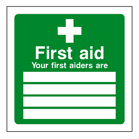 First Aid Personnel Sticker - Safety-Label.co.uk