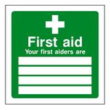 First Aid Personnel Sign | Safety-Label.co.uk