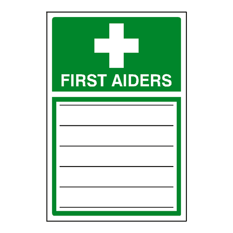 First Aiders Sticker - Safety-Label.co.uk