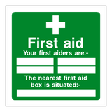 First Aid Personnel Box Sticker | Safety-Label.co.uk
