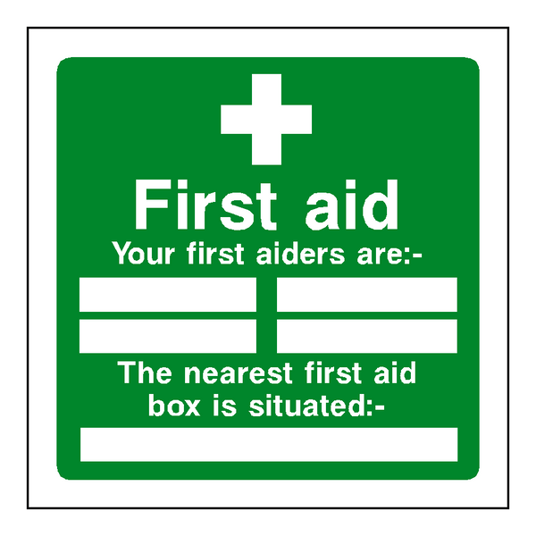 First Aid Personnel Box Sticker - Safety-Label.co.uk
