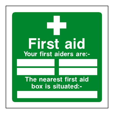 photo regarding Printable First Aid Sign named 1st Guidance Workers Box Signal