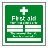 First Aid Personnel Box Sign | Safety-Label.co.uk