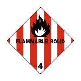 Flammable Solids 4 Label - Safety-Label.co.uk