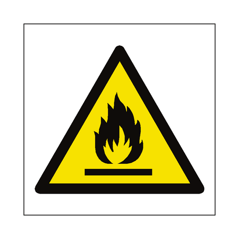 Flammable Materials Symbol Sign - Safety-Label.co.uk
