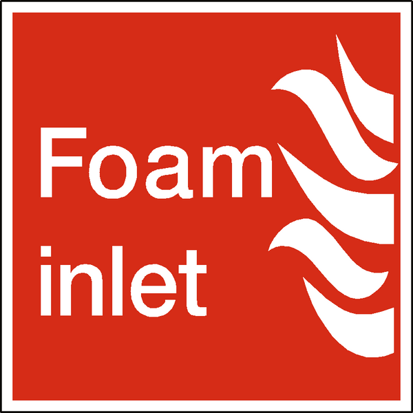 Foam Inlet Sign - Safety-Label.co.uk