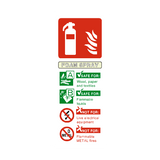 Foam Spray Fire Extinguisher Sticker - Safety-Label.co.uk