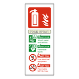 Foam Spray Fire Extinguisher Label | Safety-Label.co.uk
