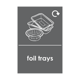 Foil Trays Recycling Sticker | Safety-Label.co.uk