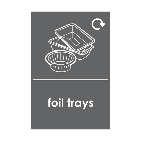 Foil Trays Recycling Sticker - Safety-Label.co.uk