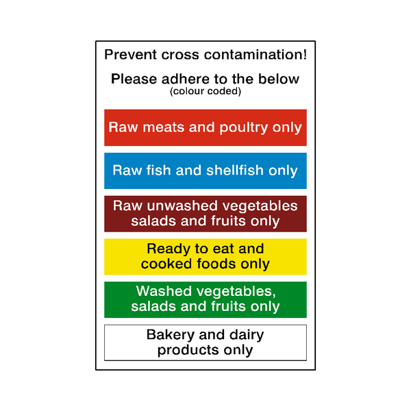 Food Prep Cross Contamination Sticker - Safety-Label.co.uk