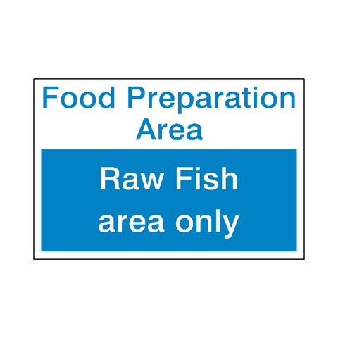Food Prep Raw Fish Sticker - Safety-Label.co.uk