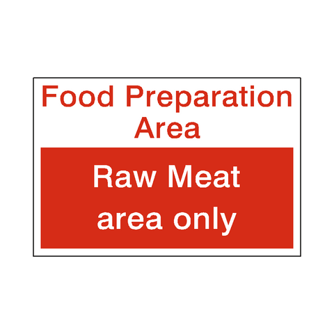 Food Prep Raw Meat Sticker - Safety-Label.co.uk
