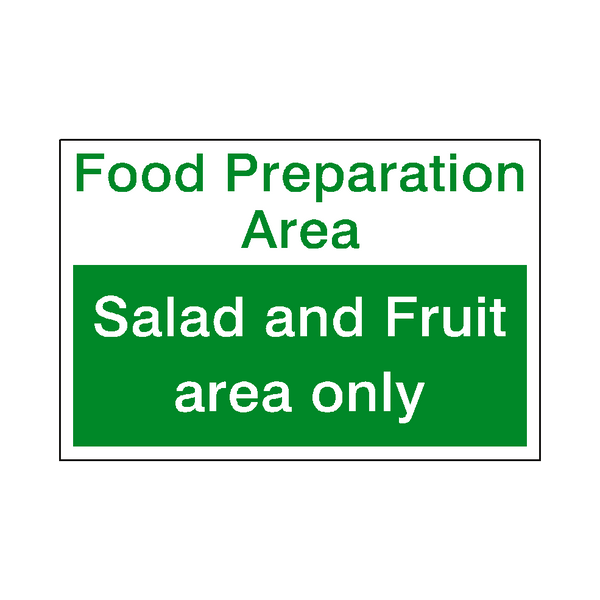 Food Prep Salad and Fruit Sticker - Safety-Label.co.uk