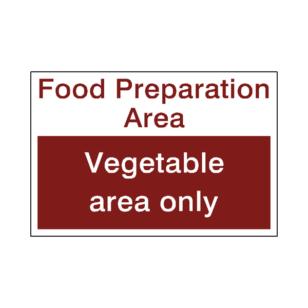 Food Prep Vegetable Sticker - Safety-Label.co.uk